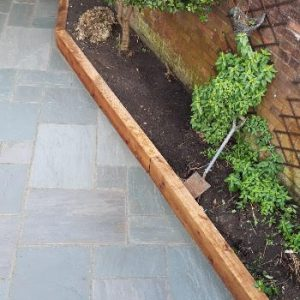 Indian Stone Driveway with Boarder